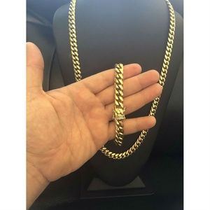 Harlembling 10mm Miami Cuban Chain And Bracelet